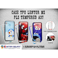 Softcase Oppo A37 Case Lentur + Tempered Glass - ABCOPA37LTMS