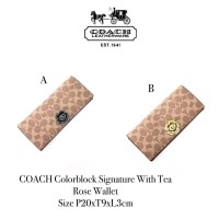 CO*CH Colorblock Signature With Tea Rose Wallet