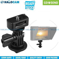 Swivel Hot Shoe Mount Adapter for Mounting Camcorder/Monitor/LED/Gopro