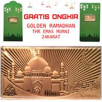 Goldbar THR Masjid Amplop Lebaran Logam Mulia Emas Murni 24K 0.1gram