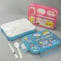 FellahStore ~ Kotak Makan Grid Bento Lunch Box Sekat 6 Anti Bocor
