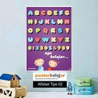 Poster Belajar Seri Alfabet tipe 02 Mainan Anak Edukatif Edukasi