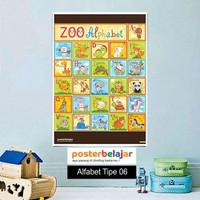 Poster Belajar Seri Alfabet tipe 06 Mainan Anak Edukatif Edukasi