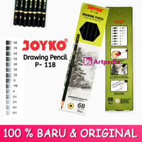 Joyko Drawing Pencil P-118 / Pensil kayu Joyko 8B-6H (Original)