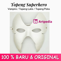 Topeng Vampir / Topeng Monster / Topeng Putih Polos - Topeng Lukis