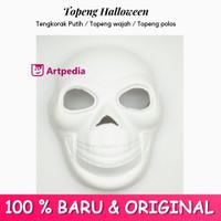 Topeng Halloween Tengkorak / Topeng Monster / Topeng Putih Polos