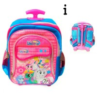 troli tas sekolah Little pony anak perempuan TK troly dorong ransel