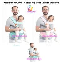 Mooimom H90502 Casual Hip Seat Baby Carrier Macaron / Gendongan Bayi