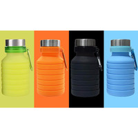 550ml Folding Silicone Bottle botol minium silicone outdoor botol gym