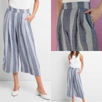 gap original blend linen cullotes pants celana kulot