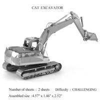 Puzzle 3D Metal Excavator