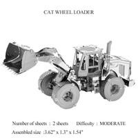 Puzzle 3D Metal Wheel Loader