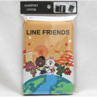 Passport cover Dompet paspor cover Line Friends Brown Cony Sally