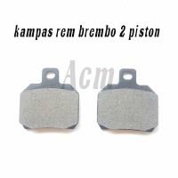 kampas rem brembo 2 piston besar
