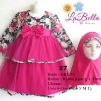 labella dress gamis baby 6-12 bln