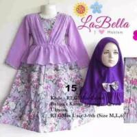 labella dress gamis 3-4th ungu