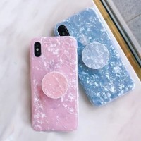 Crystal Marble Case+Pop Socket Samsung Galaxy J2 Prime /Grand P. Bling