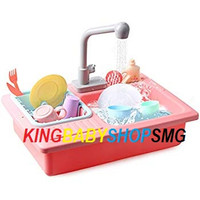 Play Set Wash-Up Kitchen Sink With Electric Water Tap / Mainan Anak