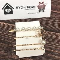 Jepit Rambut Kekinian HairClip / Hair clip Korea Style (4in1 Set)