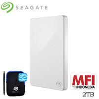 Seagate Backup Plus Slim Harddisk Eksternal 2TB - Putih [FS]
