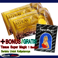 Kopi Kuat Miracle 2 Sachet - Coffee Kuat-Tahan Lama-Stamina-Kejantanan