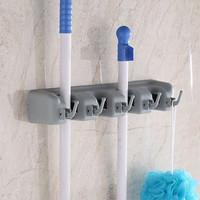 Gantungan sapu alat pel dengan hook 4 slot - mop holder