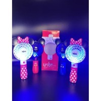 Kipas angin portable karakter Mickey Minnie mouse Rechargeable