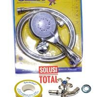 PAKET 3 Shower mandi ASLI ONDA SO 250 + Kran double K 406 + Seal tape