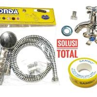 PAKET 1 Shower mandi ASLI ONDA SO 244 + Kran double K 406 + Seal tape
