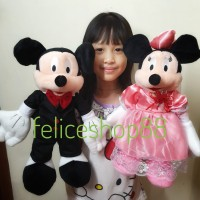Boneka couple wedding minnie mouse mickey mouse