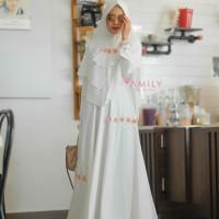 KHIMAR ONLY Hanifa White by Amily Hijab Ready