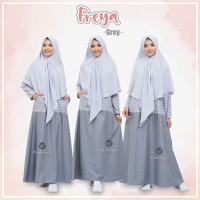 URFIMUTIYARO FREYA DRESS GREY GAMIS ONLY TOYOBO MIX BABY TERRY adem