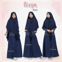 URFIMUTIYARO FREYA DRESS NAVY GAMIS ONLY TOYOBO MIX BABY TERRY adem