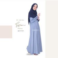 Syera Dress JEANS XL by Amima Gamis Only katun madina adem polos