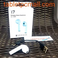 Earphone Headset Bluetooth i7 Wireless Earphone Mic Murah
