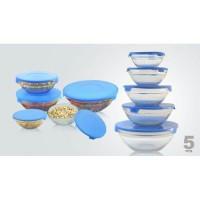 5 Glass Bowl Set / Mangkok kaca Beranak
