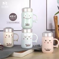 Gelas mug cangkir keramik kecil Kartun lucu cangkir teh mug - TBR034