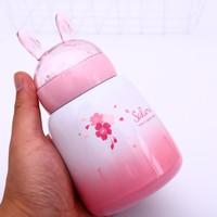 Botol minum anak dengan tutup kelinci lucu termos air anak - TBR030