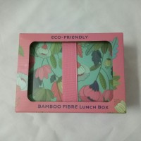 kotak makan bamboo fibre lunch box food container eco friendly