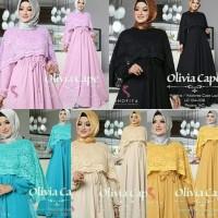 Cool!! Gamis Pesta Baju Pesta Wanita Dress Brukat Hijab Olivia Cape