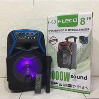 "SPEAKER DIGITAL MP3 MULTIMEDIA FLECO F-83 8"" / SPEAKER FLECO 1000W"
