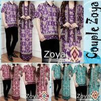 Baju Muslim Gamis Batik Couple Zoya - Baju Pesta Couple