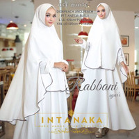 Pramita Fashion Muslimah Gamis Syari Rabbani PUTIH Intanaka L