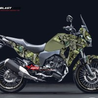 Decal stiker Versys 250 Kamuflase forest