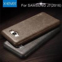 GARANSI Samsung Galaxy J7 2016 Leather retro back Cover Hard Soft Case