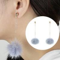 Anting Korea Small Style Wind Earrings Fringe Wild Earrings Fur AP3492