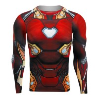 IMPORT ORI kaos sweeter Raglan Sleeve Avengers Iron pria 3D Printed