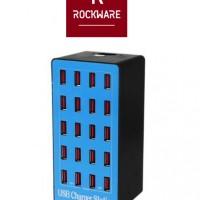 ROCKWARE A5 Plus - USB Wall Smart Charging Station 20 Port 100W 20A