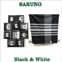 SARUNG BLACK AND WHITE Gajah Dubai