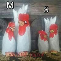 Pajangan ayam medium putih
